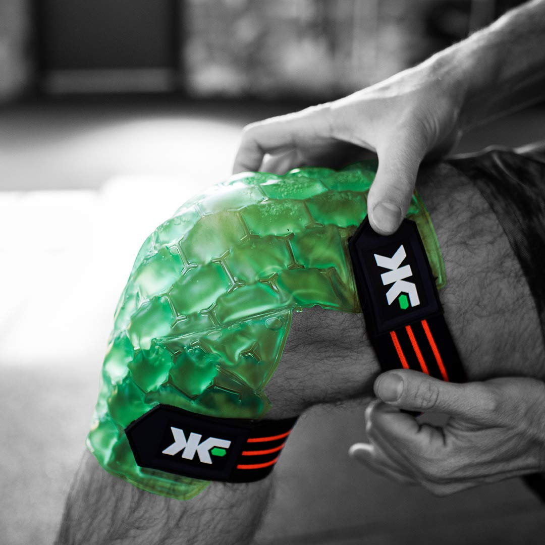 Kool'N FX Hot & Cold Therapy, Reusable Knee Gel Pack with Adjustable Straps - Great for Sports Injuries, Post Surgery, Meniscus Tear, Arthritis, Joint Pain Relief & More (Small/Medium) by KOOL'N FX