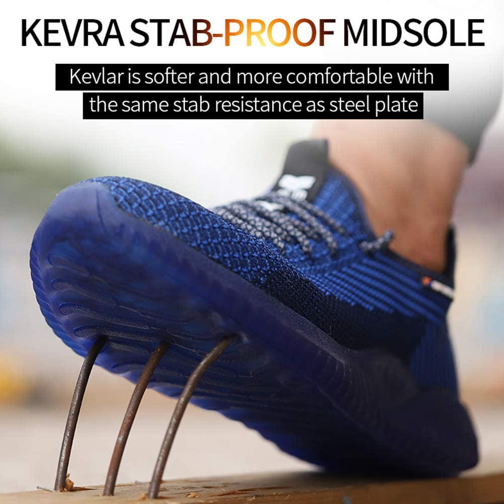 COOU Chaussure de S/écurit/é s3 Respirant Chaussures de Travail avec Embout de Protection en Acier Et Semelle de Protection Unisexes