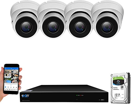 GW Security Smart AI 8 Channel H.265 PoE NVR Ultra-HD 4K 3840×2160 Security Camera System