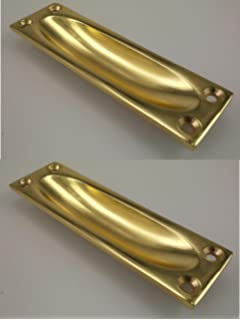 ironmongery world solid brass flush recessed door drawer pull