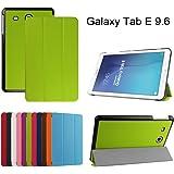 """Samsung Galaxy Tab E 9.6 Ultra Custodia,Mama Mouth Ultra sottile di peso leggero con supporto in Piedi caso Case per 9.6"""" Samsung Galaxy Tab E 9.6 T560 T561 Android Tablet,Verde"""