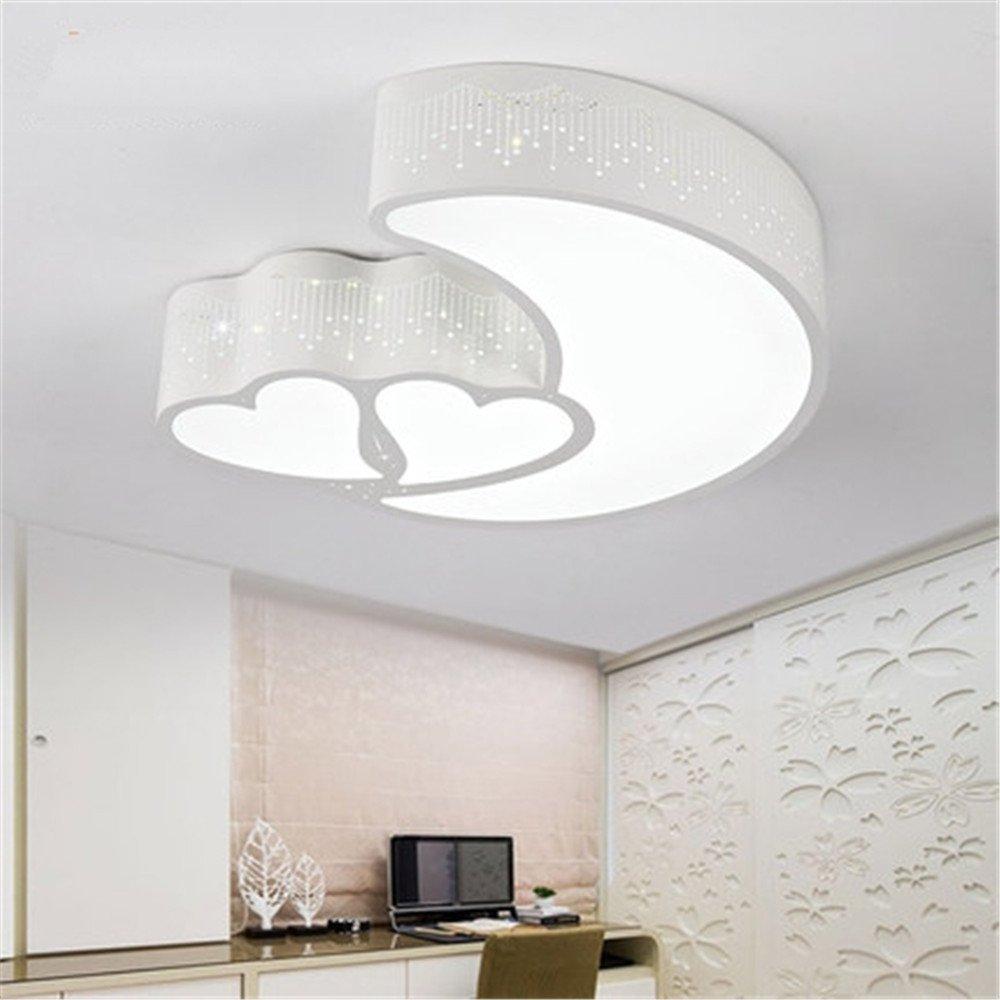 Leihongthebox Ceiling Lights lamp Double-love LED Ceiling Ceiling lamp lights Moon Heart and children 550400mm,550400mm