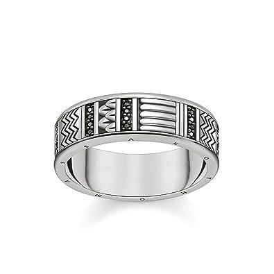 ea024befeee3 Thomas Sabo Unisex Ring Hieroglyphs Ornamentation 925 Sterling Silver