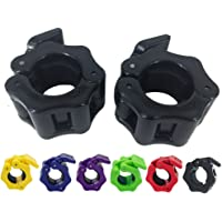 Greententljs 1 Inch Barbell Clamps Clip Quick Release Locking Barbells Pro Workout Weight Collar Clips Lock Weights Plates 1'' Diameter Standard Bar for Weightlifting Fitness Training