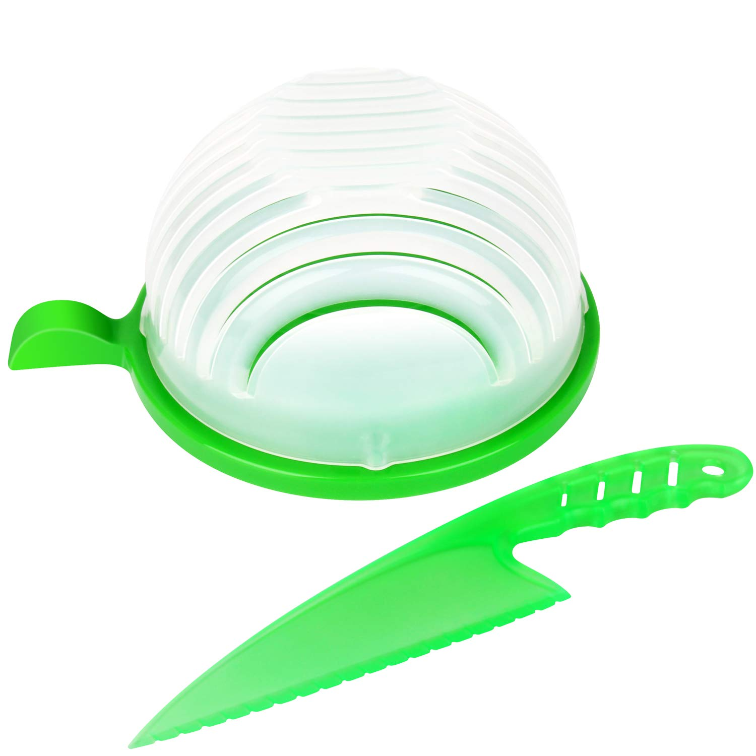 Quick Chop Salad Cutter Bowl, Easy Speed Salad Maker - Make Your Salad in 60 Seconds (salad cutter bowl) Unihoh