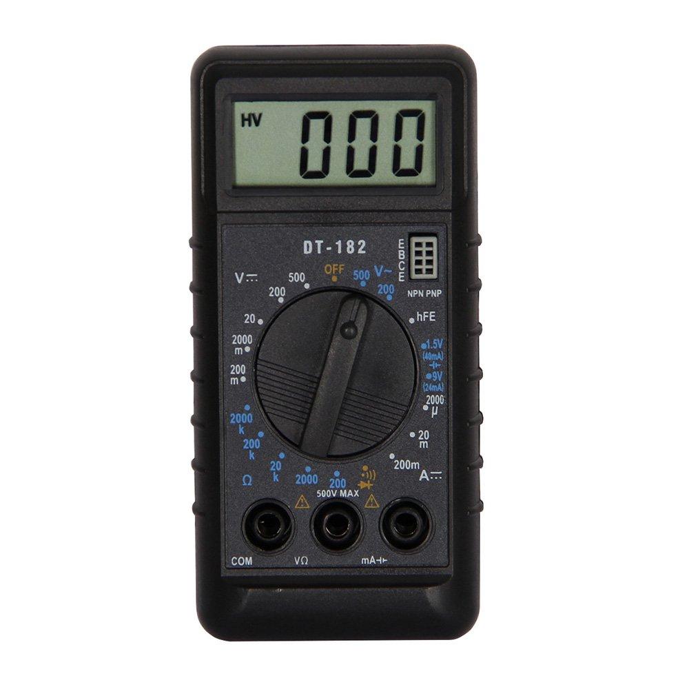 OLSUS DT182 LCD Handheld Digital Multimeter for Home and Car - Black