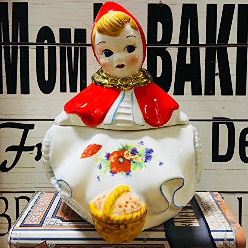 Little Red Riding Hood Cracker/Cookie Jar - Vintage Hull McCoy Style NEW GLASSWARE