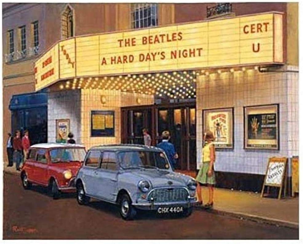 JYTD JigsawPuzzle 1000 Piezas de Rompecabezas de Madera Rompecabezas y Rompecabezas Accesorios para Rompecabezas DIY Classic Mini Cooper Beatles Concert Puzzle 75 * 50CM