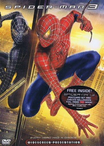 Spider-man 3 DVD + Child's Full-hood Red Mask + Postcard Set