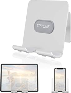 """Wall Tablet Holder – Tryone Adhesive Wall Tablet Holder Mount, Update Version Wall Tablet Mount for Bathroom,Kitchen,Office and More,Compatible with All Phones and Tablet(4-13"""")"""