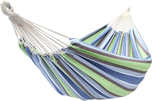 Teeker Outdoor Garden 2 Person Cotton Hammock