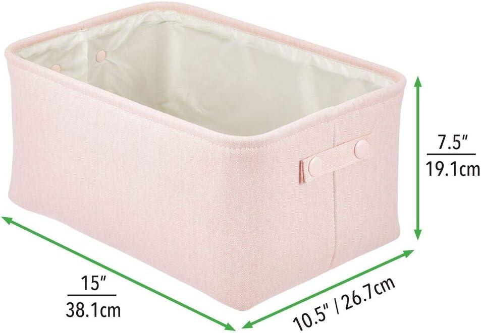 praktischer Badezimmer Organizer aus Baumwolle mit Griffen mDesign Aufbewahrungskorb mit Innenbeschichtung und Strukturdesign braun ideal zur Kosmetikaufbewahrung