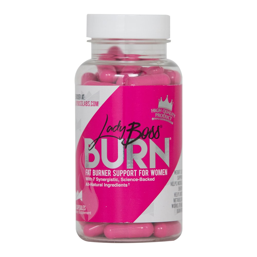 Premium Fat Burner Pills Backed by Science - LadyBoss Burn - Safe - Craving Fighter and Metabolism Booster for Women - Effective & All Natural - 30 Servings