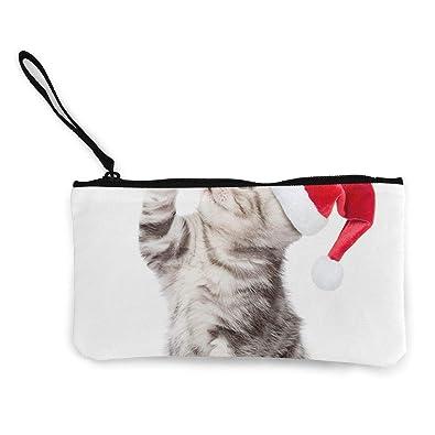 Sunmoonet Monedero con diseño de gatos y gatitos de Navidad ...