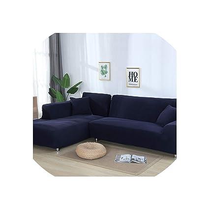 Amazon.com: 2 Pieces Covers for L Shaped Sofa Jacquard ...