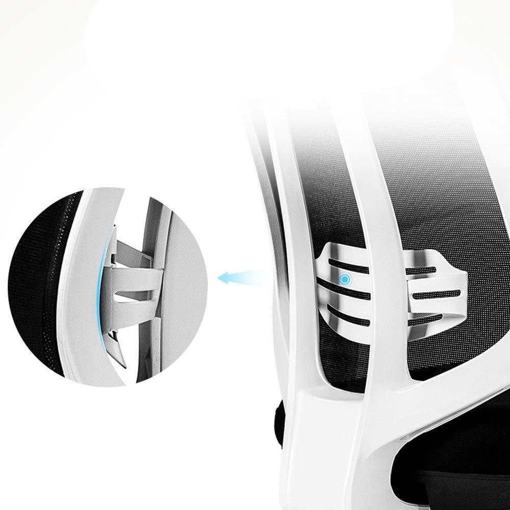 Barstolar Xiuyun datorstol modern enkelhet multifunktionell stol höghållfast teknik polymer ergonomisk avlastare kontor justerbart nackstöd lutning plast Vitt Vitt