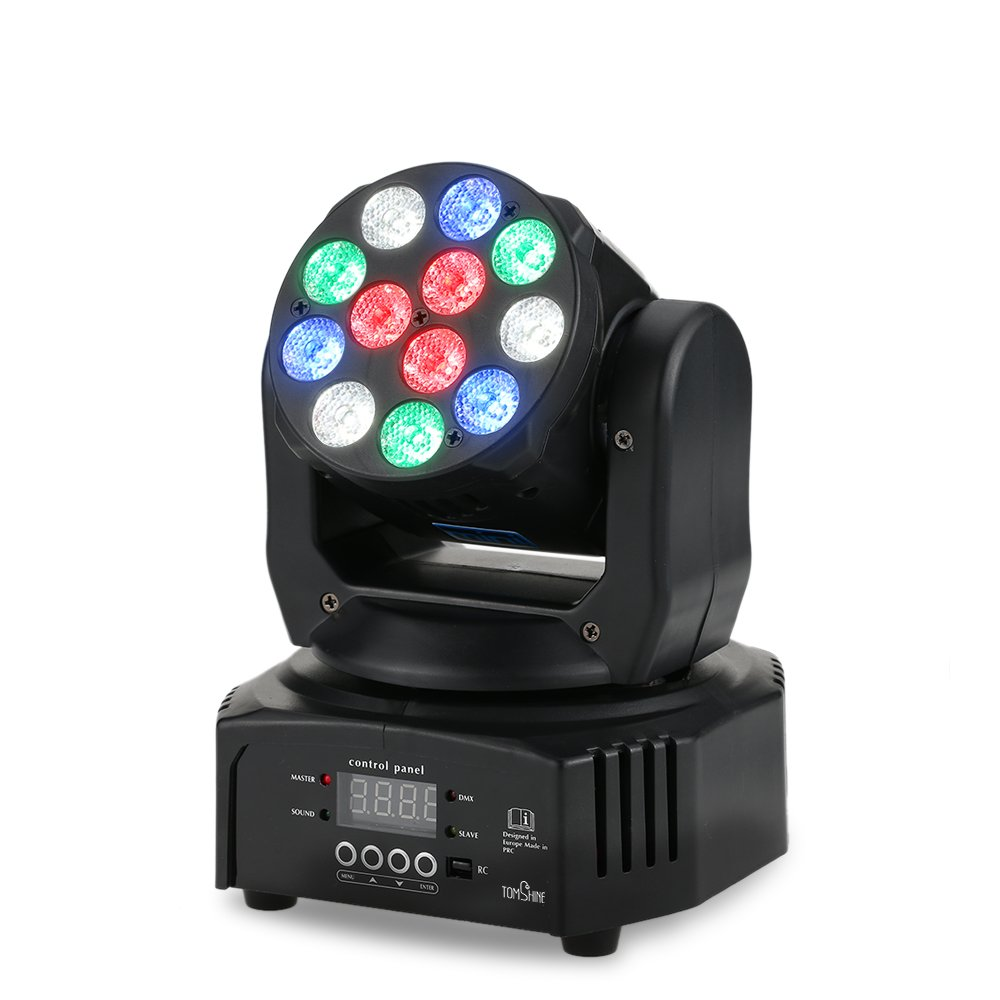 Tomshine 40W Stage Lighting 12 LED RGBW Sound Activated Moving Head DJ Lights Wash Effect for Party KTV Pub Bar Show Wedding Ceremony