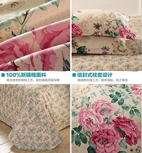 4 Piece Quilt Duvet Cover Set 1 Duvet Cover + 2 Pillow Shams + 1 bed sheet - Quality Durable Bed Cover Coordinates/ Dance with the wind /6 Feet by GH8 (Image #2)