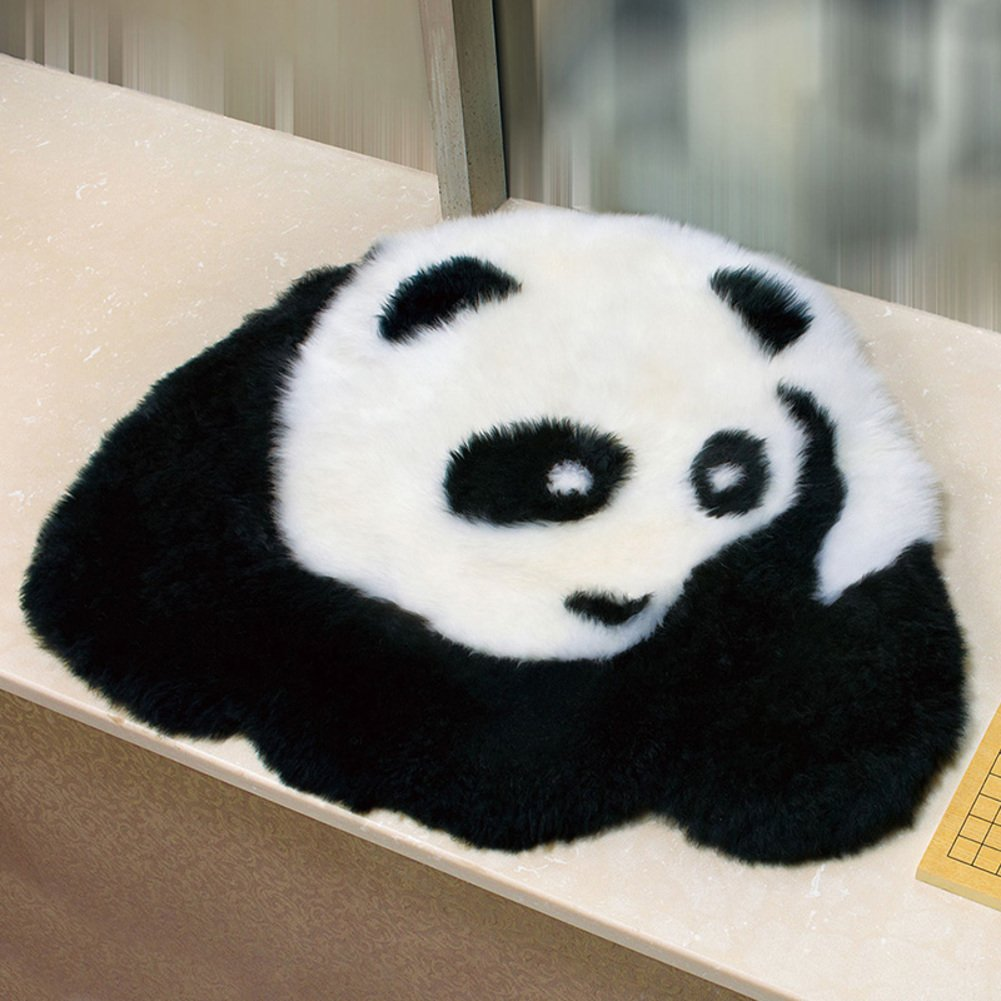 Cartoon panda seat cushioning,Cute children's room rugs Bedroom home rug Chair cover Cozy-B 95x80cm(37x31inch)