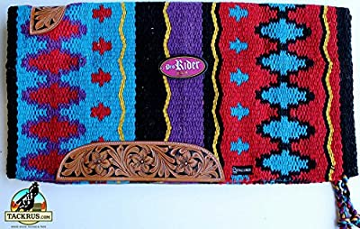 34x36 Horse Wool Western Show Trail SADDLE BLANKET Rodeo Pad Rug Red 3676C