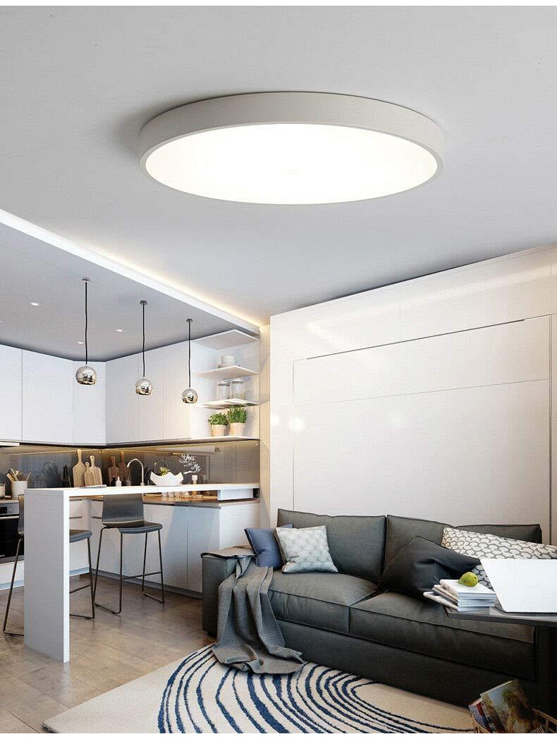 FidgetGear Ultrathin Modern Simple LED Kitchen Bathroom Restaurants Balcony Ceiling Light Black 23cm