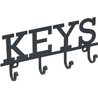 Kitchen Craft Living Nostalgia Metal Wall-Mounted Key Holder, 19 x 8.5 cm - Grey