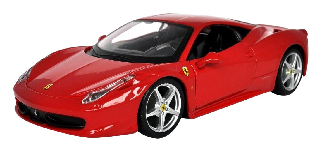 Carmel 1:14 Ferrari 458 Italia 2.4Ghz with Lights Rechargeable Battery, Red by Carmel