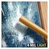 BDF S4MB50 Window Film Security and Sun Control 4 Mil Black 50 (Light) - 48in X 12ft