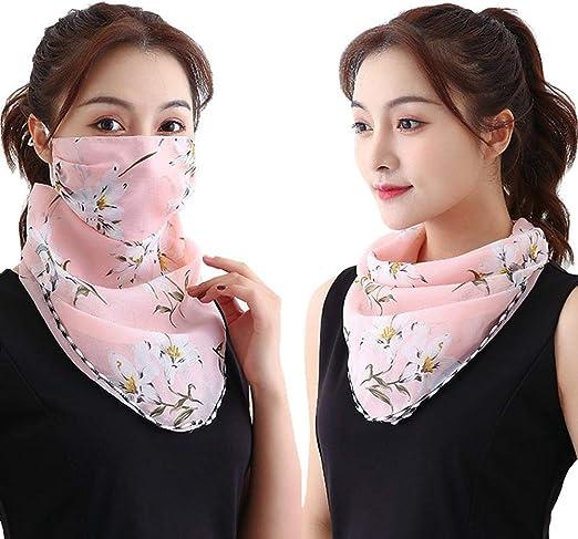 12 zhongqingshiKelly Poe Sonnenschutz f/ür das Gesicht Schutz Outdoor-Schal Sch/ützender Seidenschal Taschentuch Sonnenschutz Gesichtsschutz Schal Damen Schal