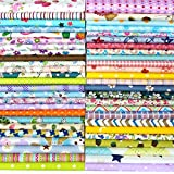 "Misscrafts 50pcs 8"" x 8"" (20cm x 20cm) Top Cotton Craft Fabric Bundle Squares Patchwork DIY Sewing Scrapbooking Quilting Dot Pattern: more info"