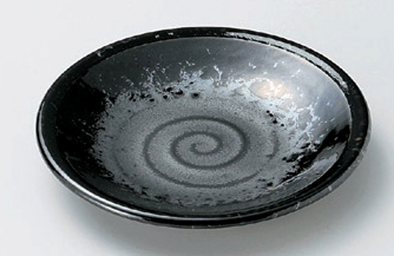 BLACK-PEARL Jiki Japanese traditional Porcelain Small Plates Set of 4
