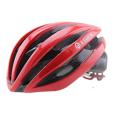 MJW Bicicleta con Luz Casco Montar Casco Seguridad Bicicleta De ...