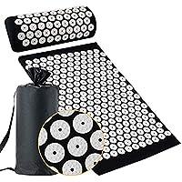 Locisne Acupunctuurmat kussenset met draagtas, Yoga Acupoint Acupressuur Mat Kussen voor Fitnessmassage, verlicht…