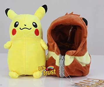 En de Pikachu Eevee saco de dormir muñeca de peluche Pokemon Stuffed Anima juguete Navidad 8