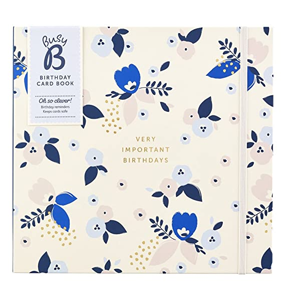 Birthday Card Book An Birthday Organiser With Monthly Pockets