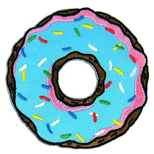 Blue Doughnut Donut Embroidered Patch product image