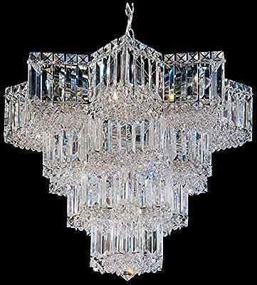 Schonbek 2714-40 Swarovski Lighting Equinoxe Chandelier, Silver