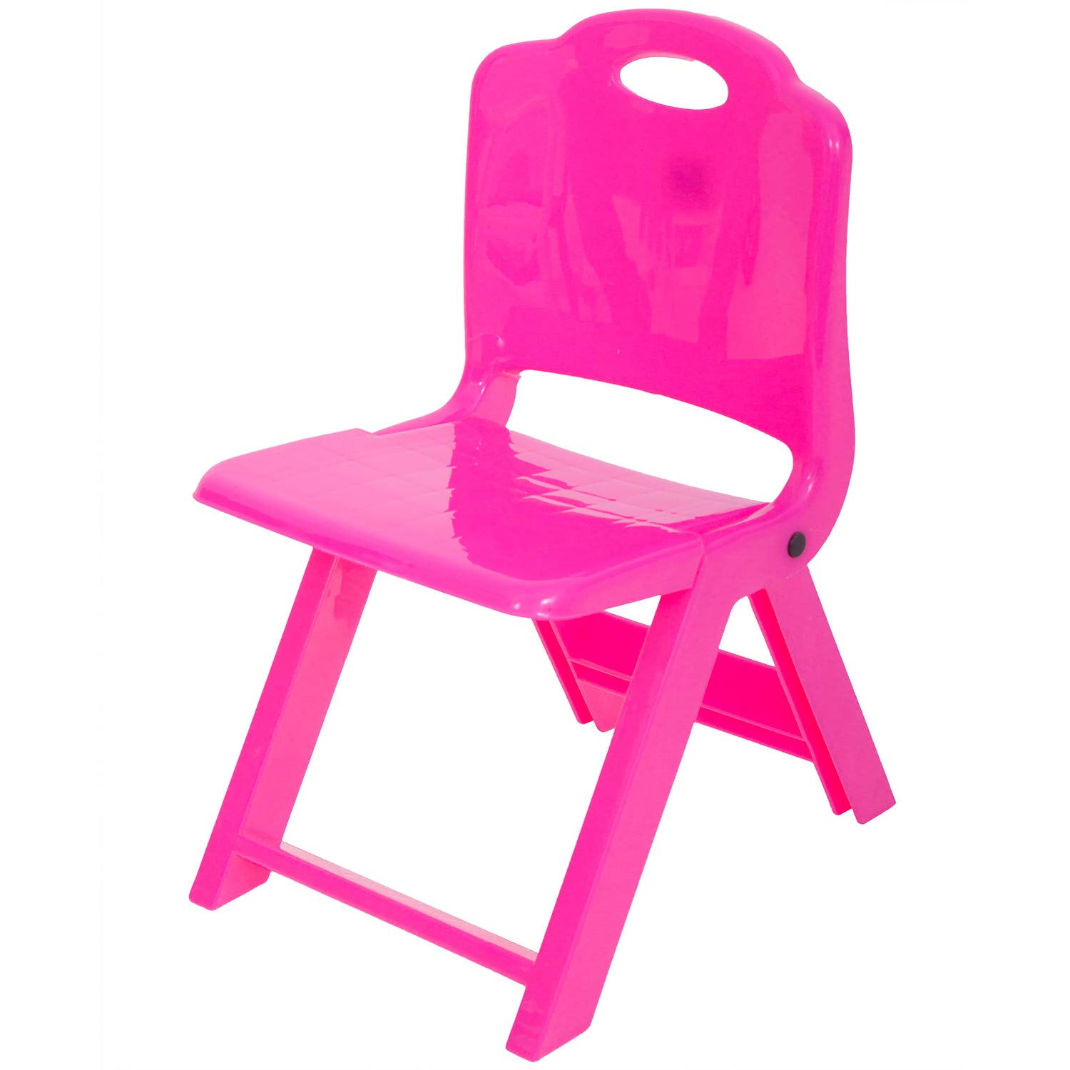 Baybee Foldable Baby Chair,Strong and Durable Plastic Chair for Kids/Plastic School Study Chair/Feeding Chair for Kids,Portable High Chair Weight Capacity 40 Kg (Pink)