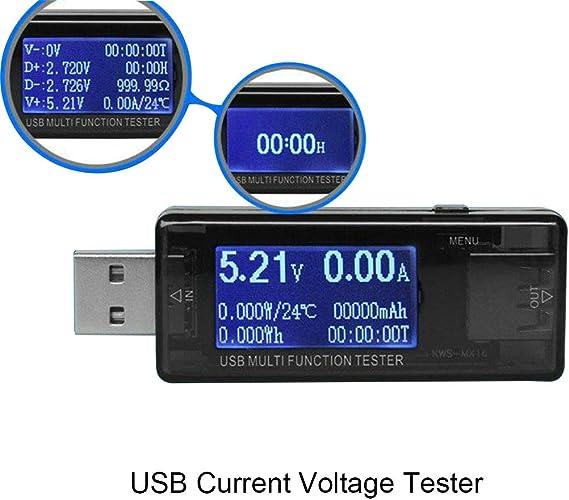 2 x USB Charger Doctor Voltage Current Meter Tester for Laptop Desktop USB Power
