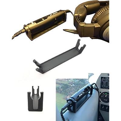 Lightspeed Zulu/Sierra Aviation Headset Control Mount Clip Adapter Accessory Upgrade, Black, Better Than Shirt Clip, Dual Plug, 6-pin, U-174 Compatible…: GPS & Navigation