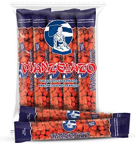 Manzela Garapiñado Peanuts 10 count 7.05 oz. each; Net Wt. 4.4 lb. / Cacahuate Garapiñado 10 pz de 200grs; Cont. Net. 2kg by manzela