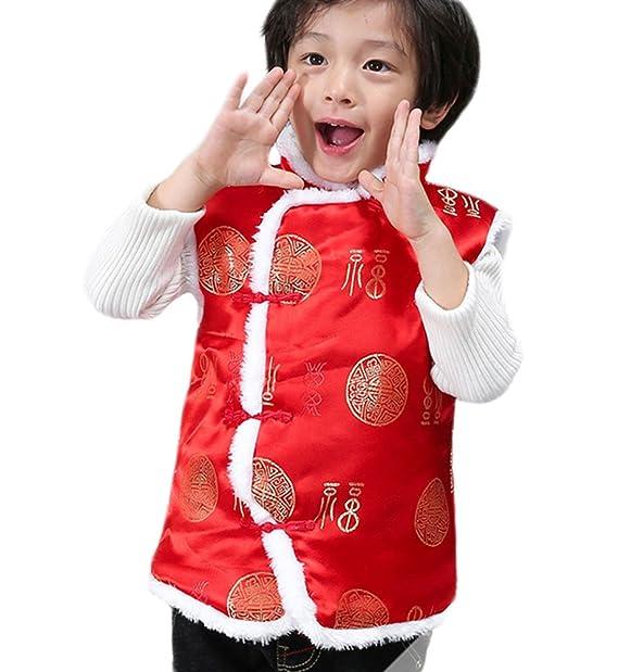 Amazon.com: excellanyard – niños chino Tang traje chaleco ...