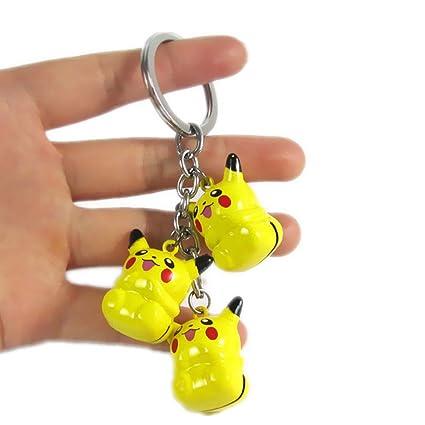 Pokemon amarillo Pikachu Metal three-dropping campanas ...