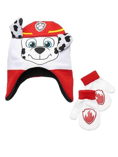 2bf71b571 Nickelodeon Toddler Boys Paw Patrol Peruvian Beanie Trapper Hat & Mittens  Set