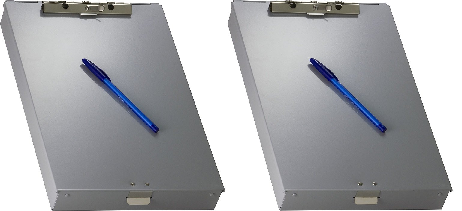 OfficemateOIC Aluminum Forms Storage Clipboard, 8.5 x 12 Inch (83200) (2 PACK)