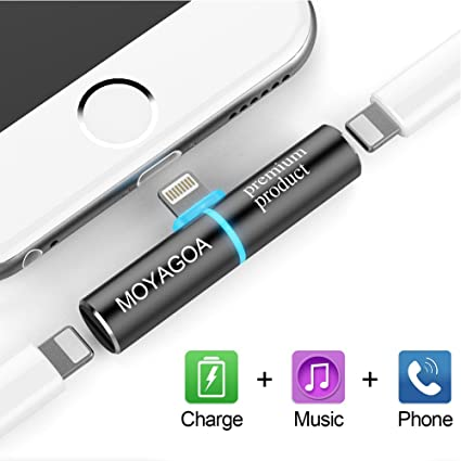super popular a0b90 078cc Amazon.com: iPhone 8 dongle Headphone Jack for 3.5mm Headphones ...
