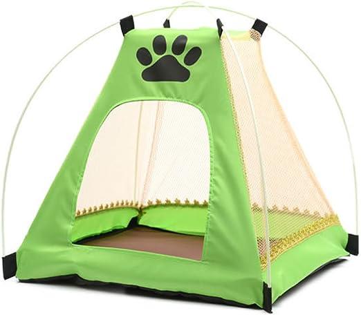 Carpa de perro para casa de verano Oxford rejilla para gato y perro, creativa, diseño de