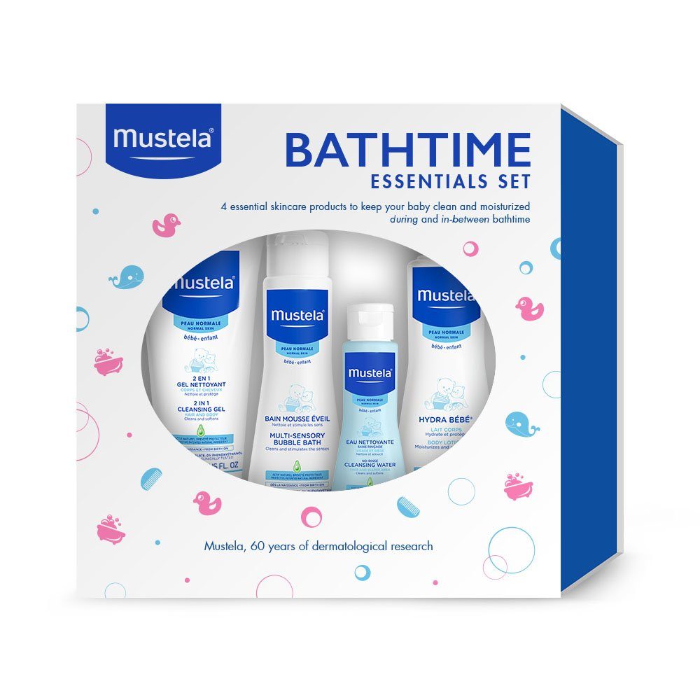 Amazon.com: Mustela Bathtime Essentials Gift Set, Gentle, Safe and ...