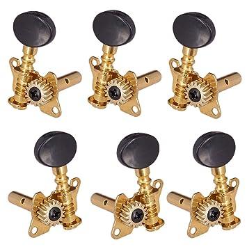 Sharplace Reemplazo 3R3L Conjunto de Máquinas de Cabezales de Engranaje Abierto Afinador Sintonizador de Afinación de Guitarra Eléctrica: Amazon.es: ...