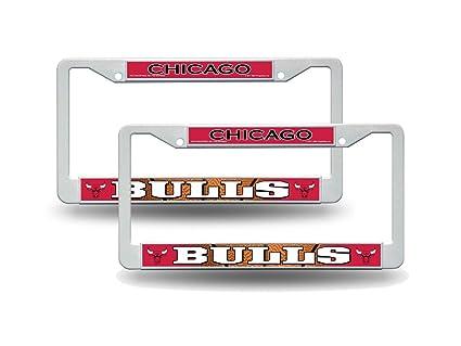 Amazon.com: Rico Chicago Bulls NBA White Plastic (2) Auto License ...